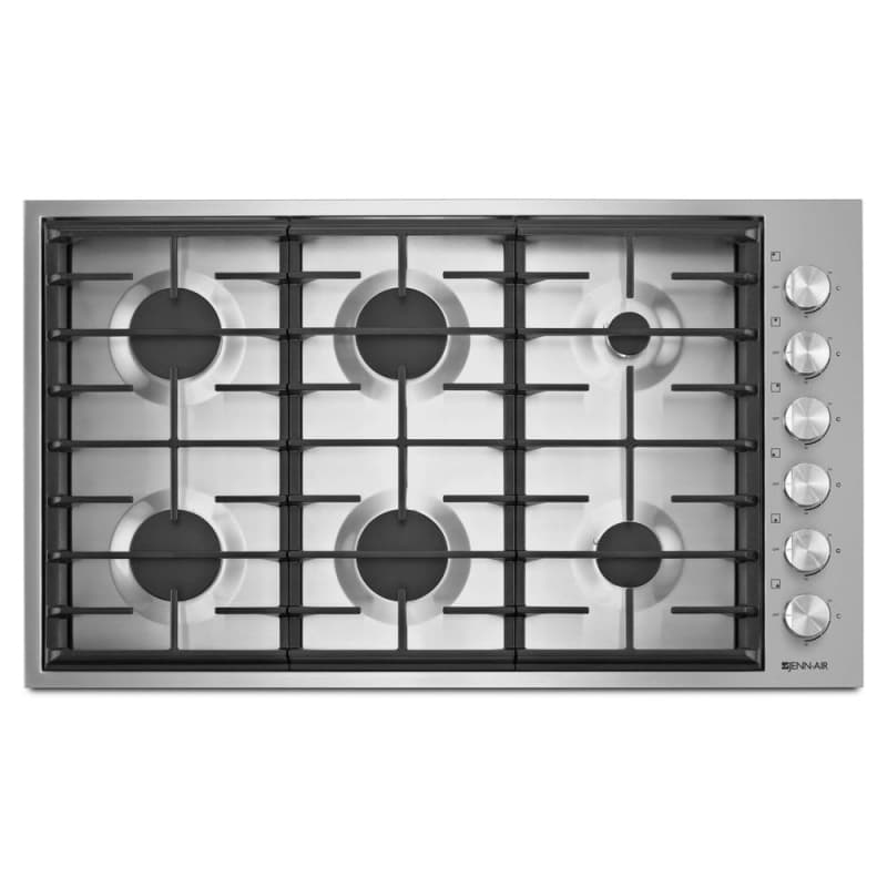 Jenn-Air JGC7636BS 36 Inch Wide Built-In Gas Cooktop with Brass PowerBurner and photo
