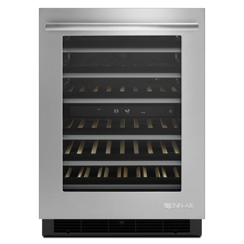 Jenn-Air JUW24FRERS 24 Inch Wide 46 Bottle Capacity Wine Cooler with Soft-Close photo
