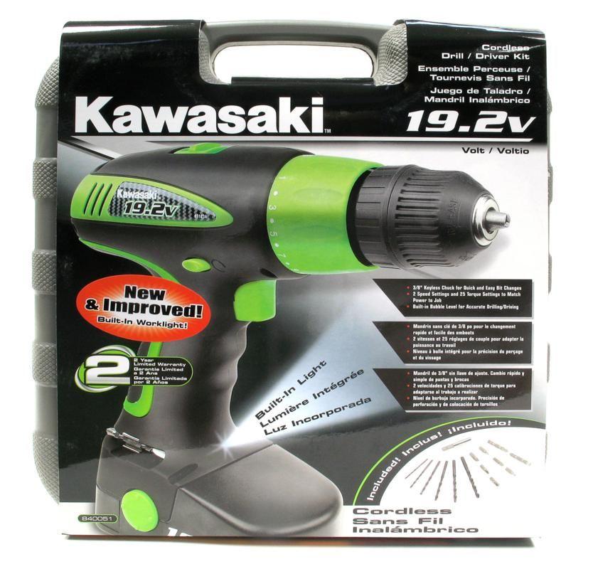 Kawasaki 840051 19.2V 20 Piece Cordless Drill Kit