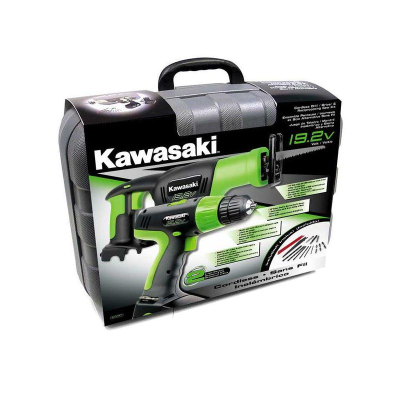 Kawasaki 840057 19.2V Cordless Drill and Reciprocating Saw