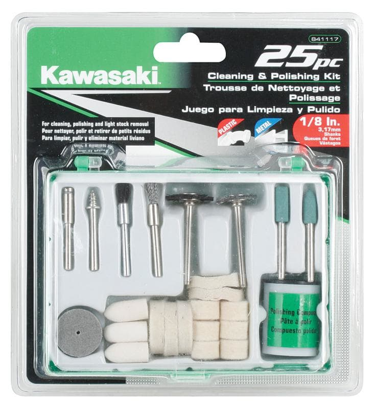 Kawasaki 841117 25 Piece Rotary Tool Cleaning & Polishing Accessory Set