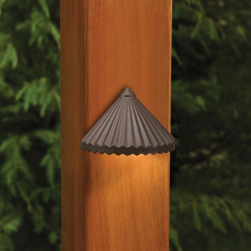 Kichler 15468 Ribbed Roof Low Voltage Deck & Patio Light Home Coupons