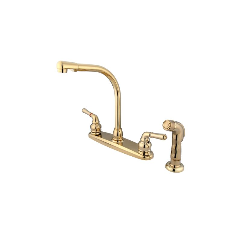 UPC 663370058073 product image for Kingston Brass Kb752sp 8 In. High Arch Kitchen Faucet With Sprayer | upcitemdb.com