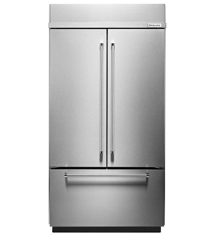 Shop Kitchenaid 20 8 Cu Ft Built In French Door: Kitchenaid Refrigerator