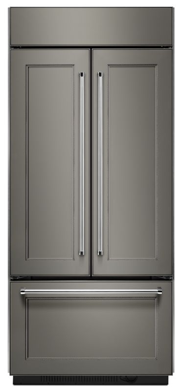 KitchenAid KBFN406E 36 Inch Wide 20.8 Cu. Ft. Built-In French Door Refrigerator photo