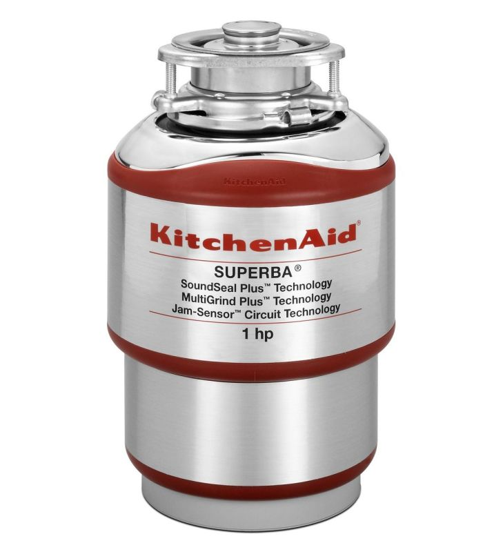 KitchenAid KCDS100T Single Horsepower Continuous Feed Food Waste Disposer photo