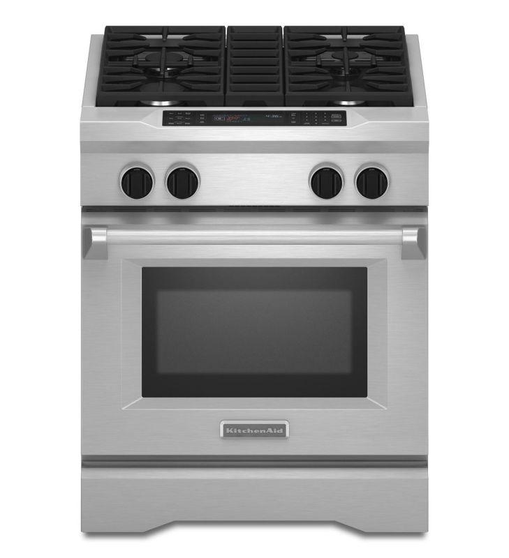 KitchenAid KDRS407V 30 Inch Wide 4.1 Cu. Ft. Dual Fuel Commercial Style Freestan photo