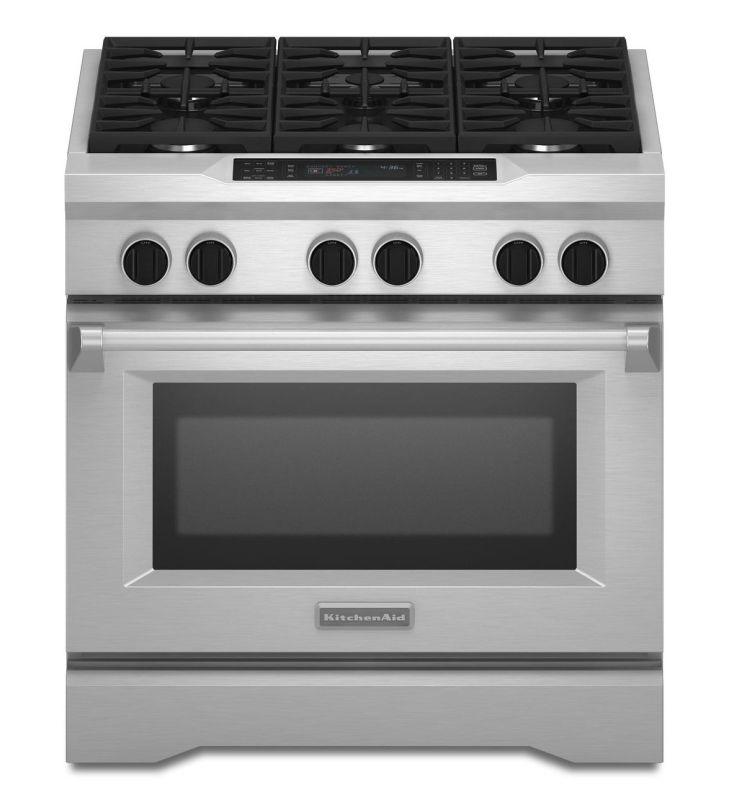KitchenAid KDRS467V 36 Inch Wide Dual Fuel 5.1 Cu. Ft. Commercial Style Freestan photo