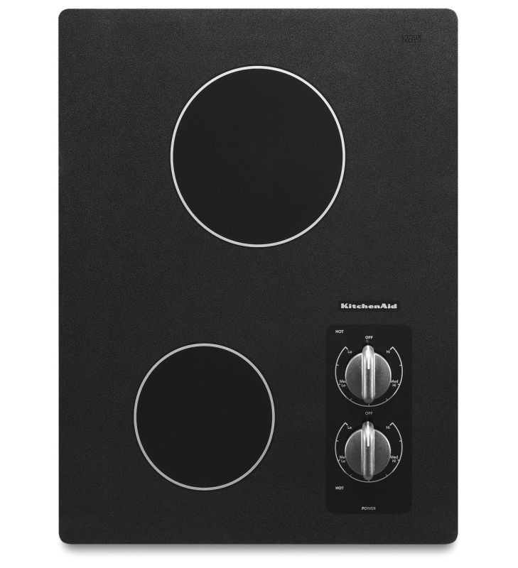 KitchenAid KECC056R 15 Inch Wide Electric Two Element Cooktop from the Architect photo