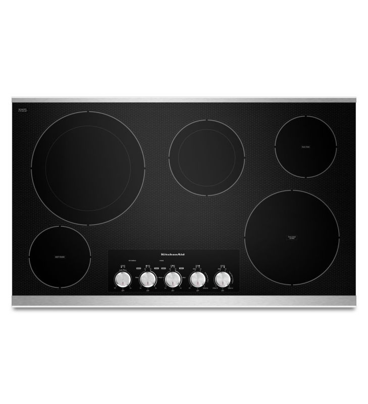 KitchenAid KECC664B 36 Inch Wide Electric Cooktop with Even-Heat Technology photo