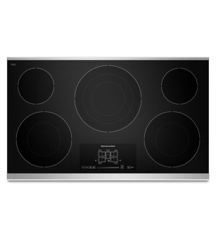 KitchenAid KECC667B 36 Inch Wide Electric Cooktop with Triple and Double Ring El photo