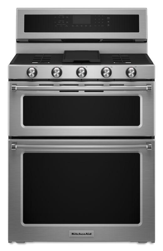 KitchenAid KFDD500E 30 Inch Wide 6.7 Cu. Ft. Dual Fuel Freestanding Range with D photo