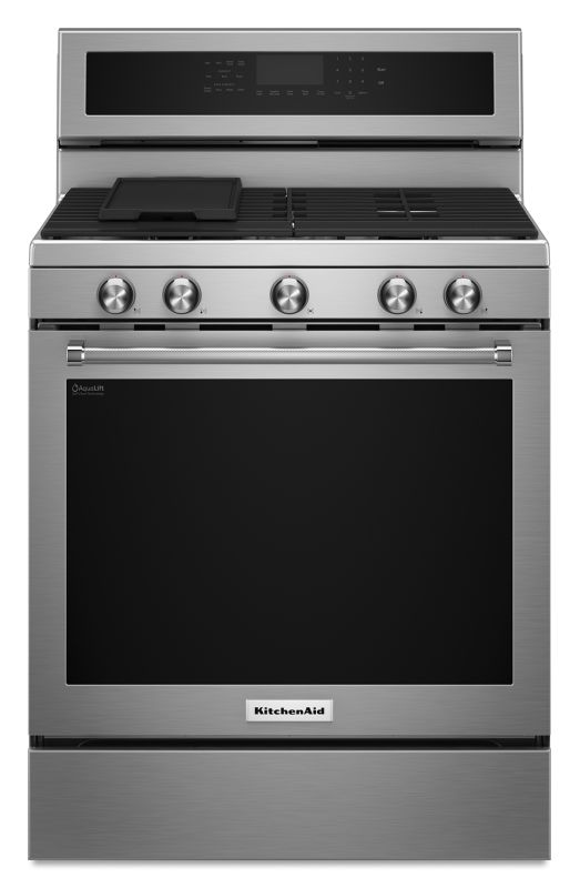 KitchenAid KFGG500E 30 Inch Wide 5.8 Cu. Ft. Freestanding Gas Range with 5 Burne photo