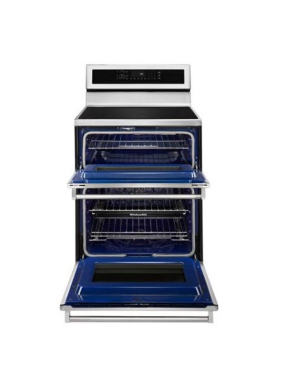 KitchenAid KFID500ESS 30 Inch Wide 6.7 Cu. Ft. Electric Double Oven with Inducti photo