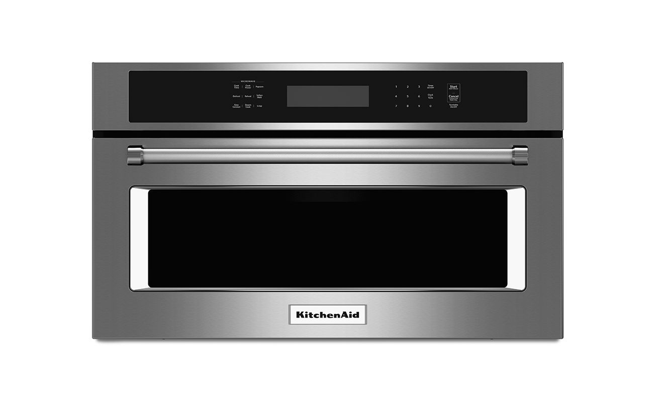 KitchenAid KMBP107E 27 Inch Wide 1.4 Cu. Ft. Built-In Microwave with Convection photo