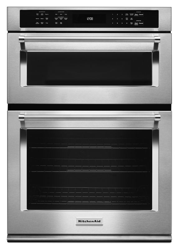 KitchenAid KOCE500E 30 Inch Wide 5.0 Cu. Ft. Combination Wall Oven with 1.4 Cu. photo