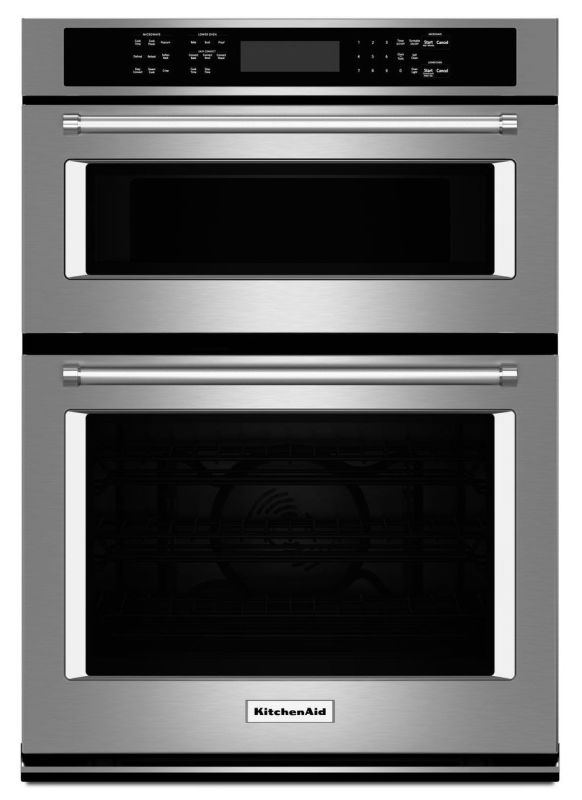 KitchenAid KOCE507E 27 Inch Wide 4.3 Cu. Ft. Combination Wall Oven with 1.4 Cu. photo