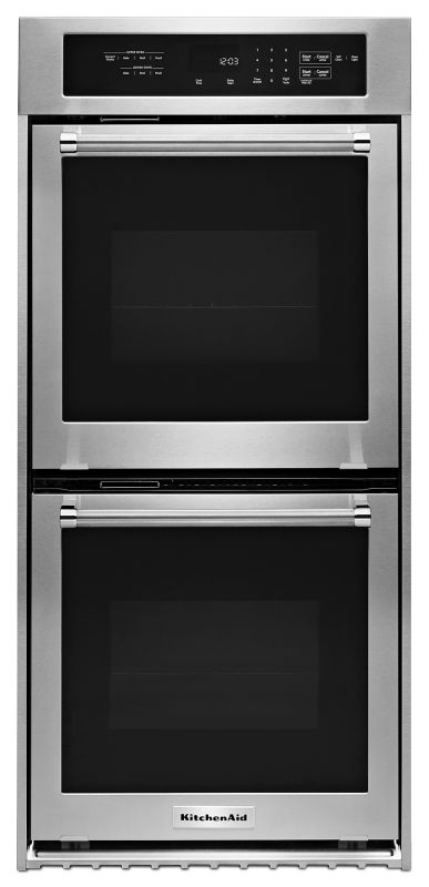 KitchenAid KODC304E 24 Inch Wide Electric 6.2 Cu. Ft. Double Wall Oven with True photo