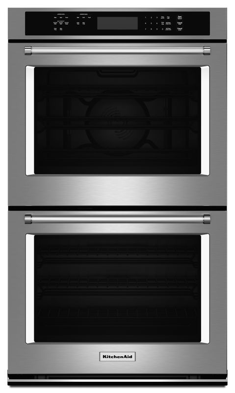 KitchenAid KODE307E 27 Inch Wide Electric 8.6 Cu. Ft. Double Wall Oven with Even photo