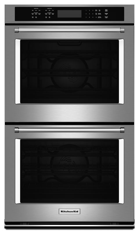 KitchenAid KODE507E 27 Inch Wide 8.6 Cu. Ft. Electric Double Wall Oven with Even photo