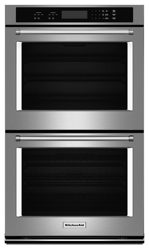 KitchenAid KODT107E 27 Inch Wide Electric 8.6 Cu. Ft. Double Wall Oven with Even photo