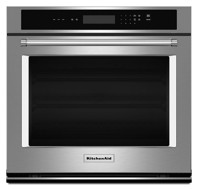 KitchenAid KOST100E 30 Inch Wide 5.0 Cu. Ft. Electric Wall Oven with Even-Heat T photo
