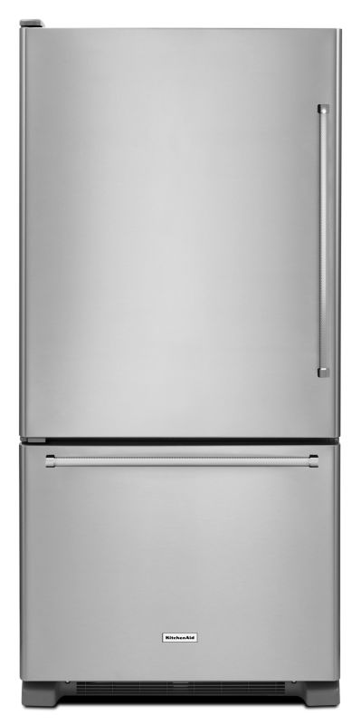 KitchenAid KRBL109E 30 Inch Wide 18.7 Cu. Ft. Energy Star Rated Bottom Freezer R photo