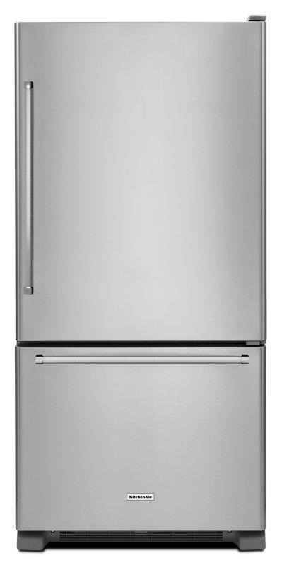 KitchenAid KRBR109E 30 Inch Wide 18.7 Cu. Ft. Energy Star Rated Bottom Freezer R photo