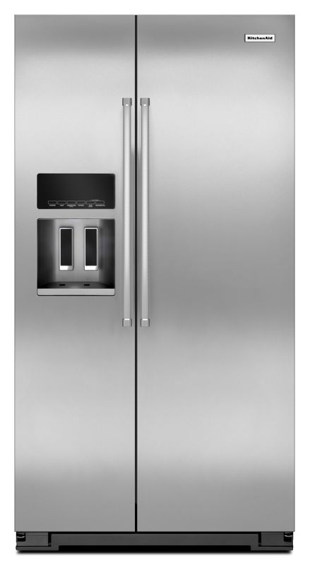 KitchenAid KRSC500E 36 Inch Wide 19.9 Cu. Ft. Refrigerator Counter Depth Side-by photo