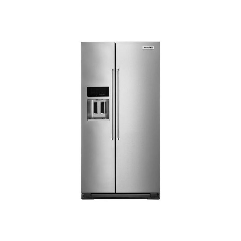 Shop Kitchenaid 24 8 Cu Ft Side By Side Refrigerator With: Kitchenaid Refrigerator