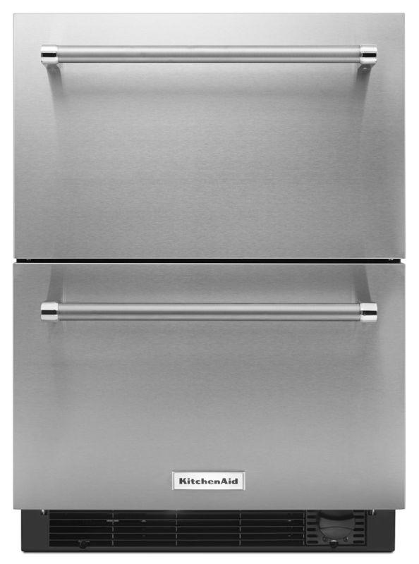 KitchenAid KUDF204E 24 Inch Wide 4.7 Cu. Ft. Refrigerator and Freezer Drawers wi photo