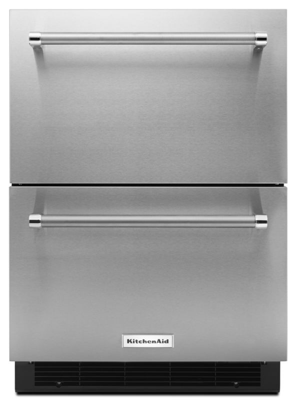 KitchenAid KUDR204E 24 Inch Wide 4.7 Cu. Ft. Double Refrigerator Drawers with LE photo