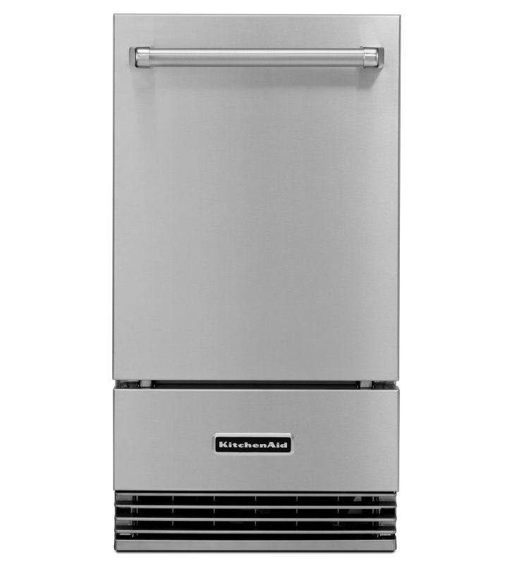 KitchenAid KUIO18NNZS 18 Inch Wide Outdoor Automatic Ice Maker photo
