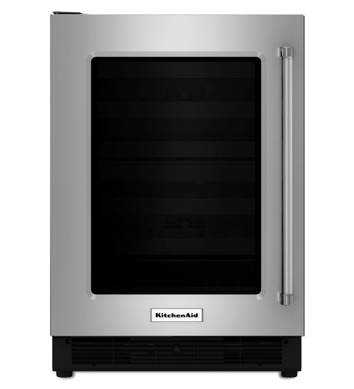 KitchenAid KURL204E 24 Inch Wide 5.1 Cu. Ft. Undercounter Refrigerator with Glas photo