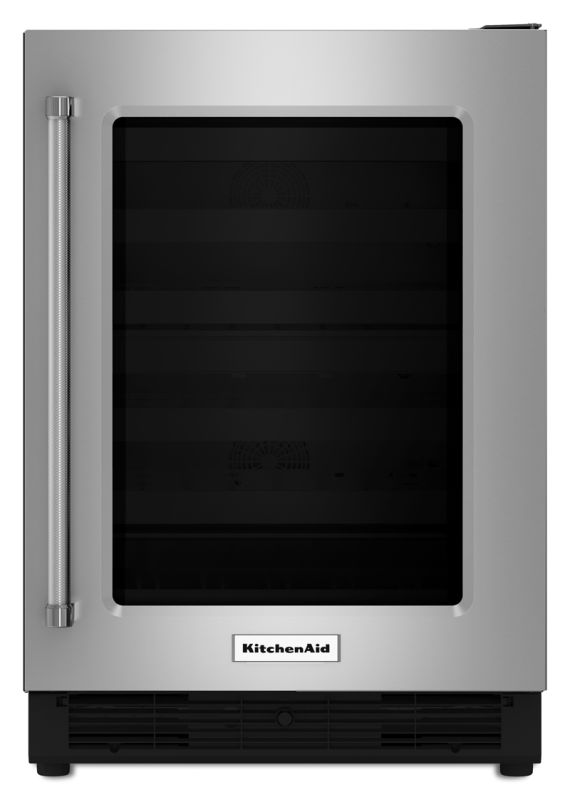 KitchenAid KURR204E 24 Inch Wide 5.1 Cu. Ft. Undercounter Refrigerator with Glas photo