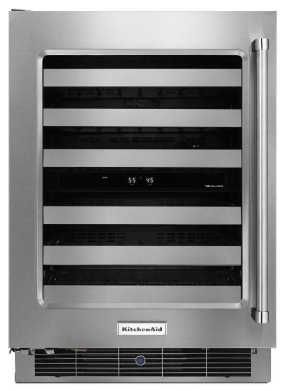 KitchenAid KUWL304E 24 Inch Wide 48 Bottle Capacity Wine Refrigerator with Metal photo