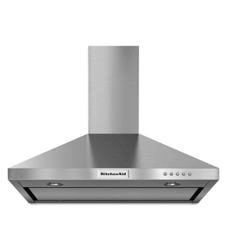 KitchenAid KVWB400D 400 CFM 30 Inch Wide Stainless Steel Wall-Mount Range Hood w photo
