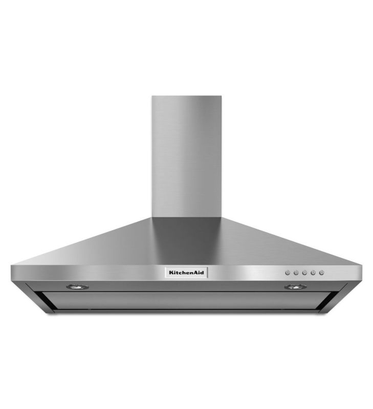 KitchenAid KVWB406D 400 CFM 36 Inch Wide Stainless Steel Wall-Mount Range Hood w photo