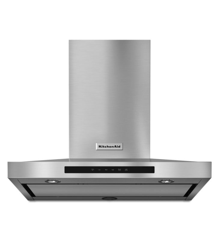 KitchenAid KVWB600D 600 CFM 30 Inch Wide Stainless Steel Wall-Mount Range Hood w photo