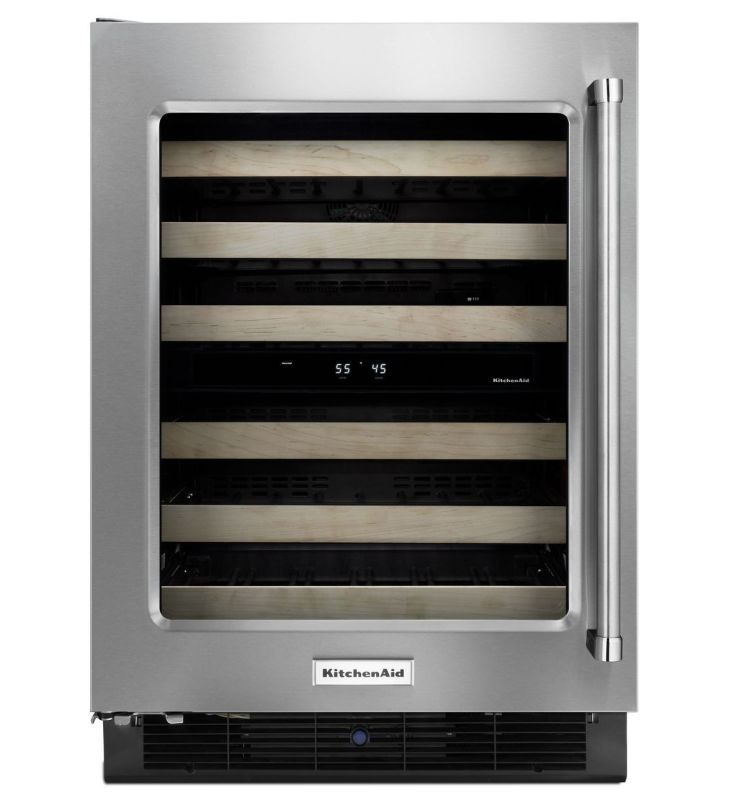 KitchenAid KUWL204E 24 Inch Wide 48 Bottle Free Standing Wine Cooler with Front photo