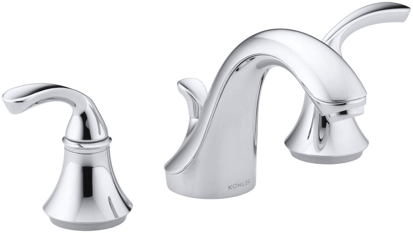 Kohler Elmbrook 8 In Widespread 2 Handle Bathroom Faucet: Kohler K-10272-4-CP Polished Chrome