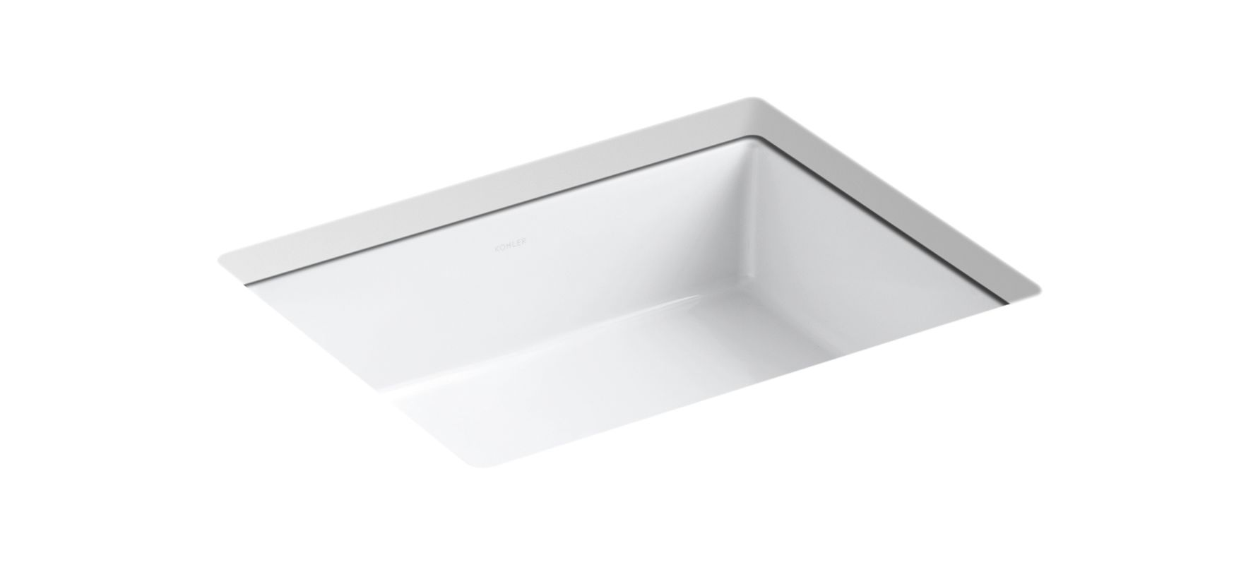Kohler K-2882-0 White Verticyl 17-1/4 Undermount Bathroom Sink With Overflow