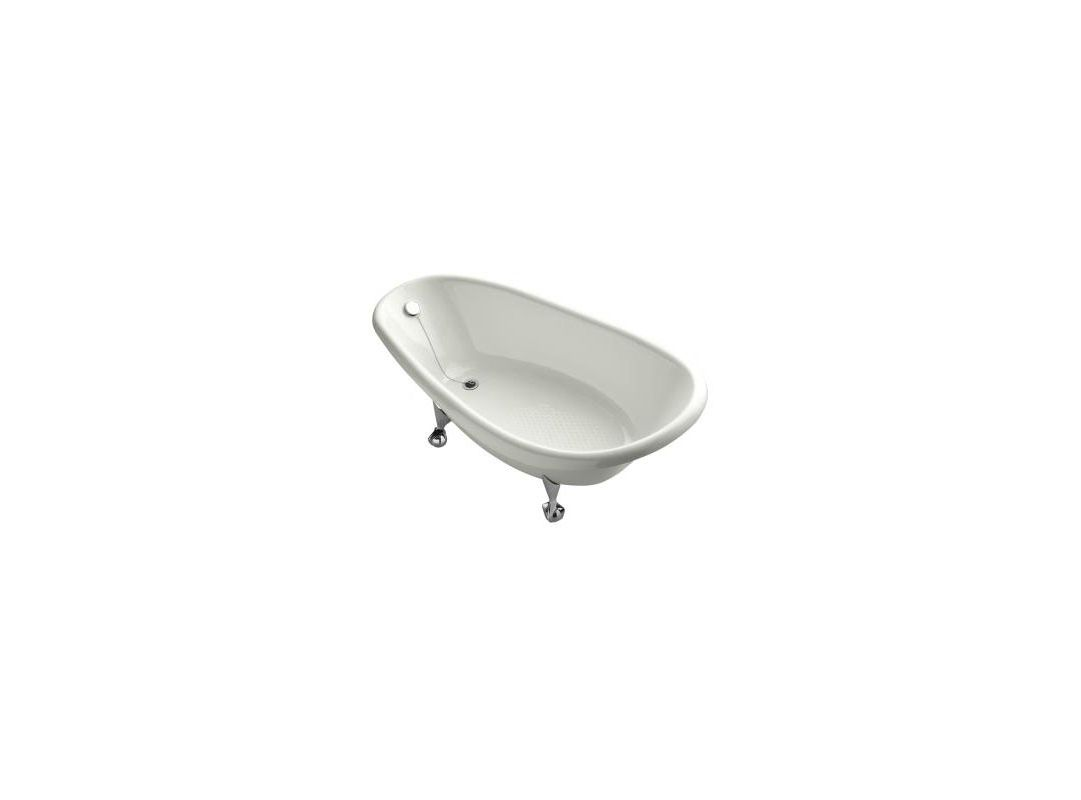 kohler k 100 birthday bath 72 cast iron clawfoot soaking bath tub with