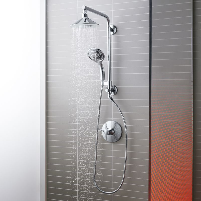 Kohler Shower : Kohler Moxie HydroRail Custom Shower System Shower System - Build.com