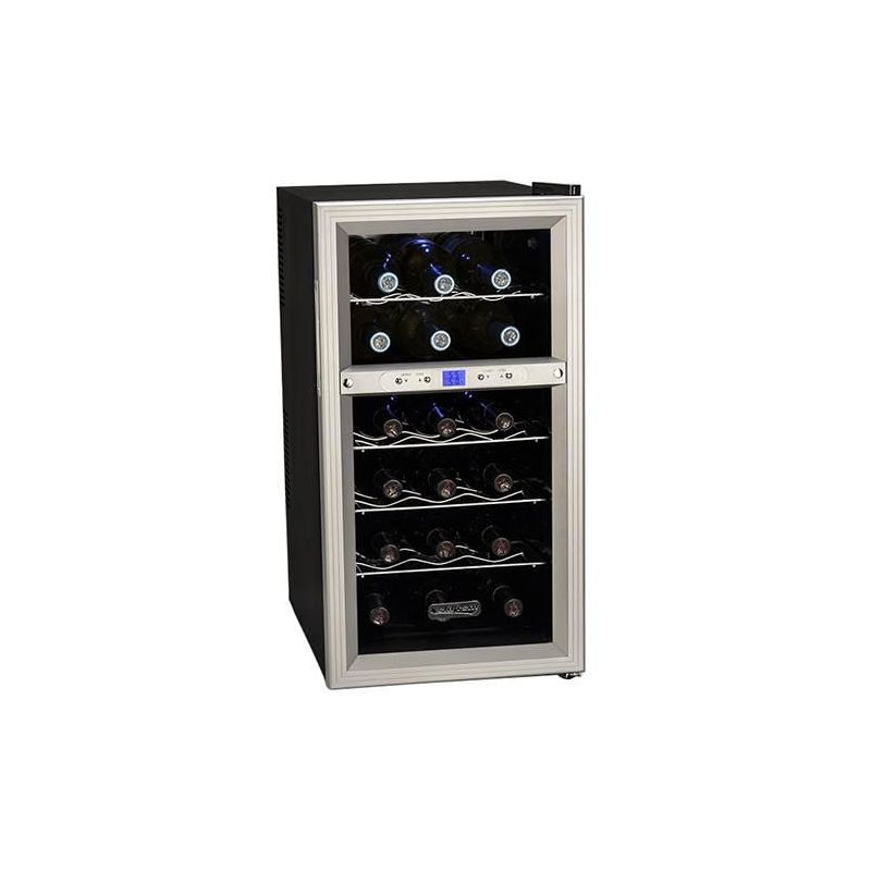 Koldfront TWR181E 14 Inch Wide 18 Bottle Wine Cooler with Dual Thermoelectric Co photo
