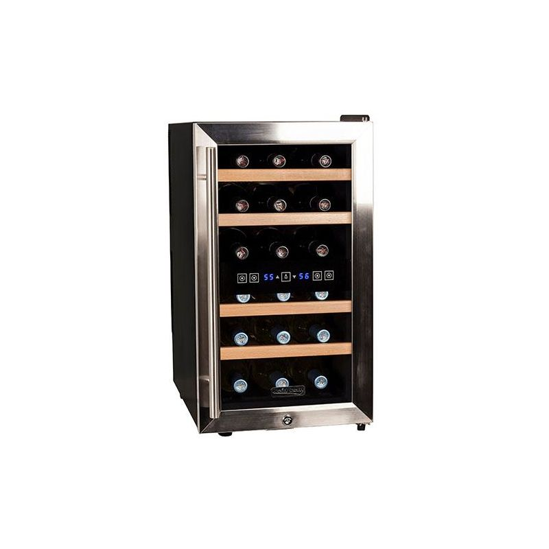 Koldfront TWR187E 14 Inch Wide 18 Bottle Wine Cooler with Dual Cooling Zones photo
