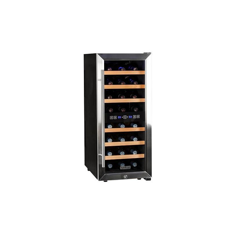 Koldfront TWR247E 14 Inch Wide 24 Bottle Wine Cooler with Dual Cooling Zones photo