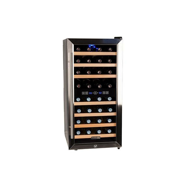 Koldfront TWR327E 16 Inch Wide 32 Bottle Wine Cooler with Dual Cooling Zones photo