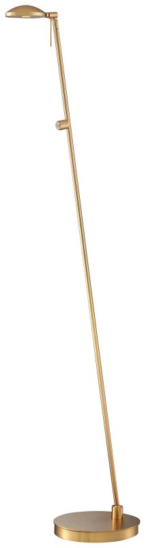 Kovacs P4334-248 1 Light LED Floor Lamp in Honey Gold from the George's Reading