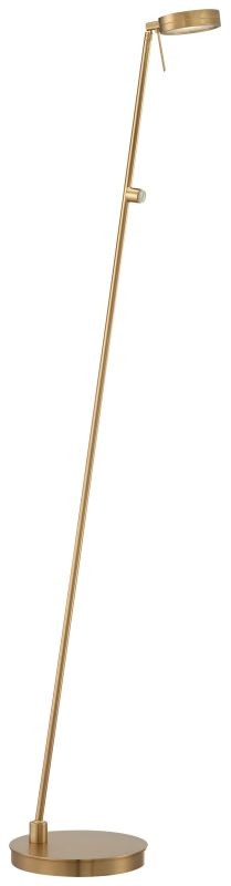 Kovacs P4304-248 1 Light LED Floor Lamp in Honey Gold from the George's Reading